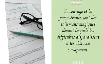 Courage et persévérance